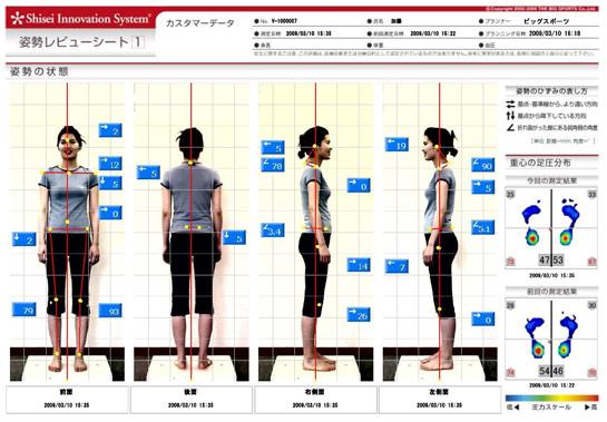 姿勢レビューシート 分析結果を出力